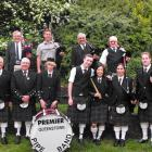 The Queenstown and Southern Lakes Highland Pipe Band in Queenstown last week. The pipers will all...