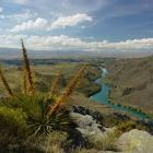 The Roxburgh Gorge, looking towards Alexandra from Flat Top Hill. Photo by Barrie Wills.