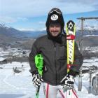 The runner-up in Wednesday's Winter Games men's slalom at Coronet Peak, Rainer Schoenfelder, of...