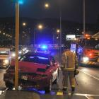 The scene of the accident in Andersons Bay Rd on October 31 last year. Photo by ODT.
