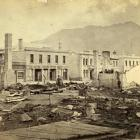 The scene of the great Queenstown fire of 1882. Eight buildings were destroyed, explaining why ...