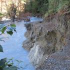 The section of track in the Dart Valley that was washed out at the weekend as a result of heavy...