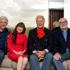The Seekers, (L-R) Bruce Woodley, Judith Durham, Keith Potger and Athol Guy, attend a photocall...