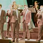 The Seven Irish Tenors on stage during their Auckland show. Photo by Stewart Macpherson.
