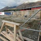 The site of an 1150sq m hall and sports court at Shotover Primary School. Photo by Guy Williams.