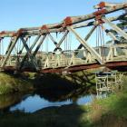 The Tawanui bridge across the Catlins River, which has been declared unsafe. Photo by Rachel Taylor.