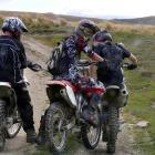 The trail bikers who are being prosecuted for damaging historic sluicings in the Oteake...