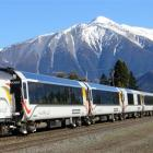 The TranzAlpine pauses at Springfield before heading into the mountains. Photo: Philip Somerville