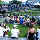 The Village Green crowd watches Queenstown band the Flaming Drivers perform during the Rock 4...