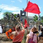 The Waitati Militia and Clan McGillicuddy trade insults during the Waitati New Year's Eve Battle...