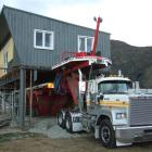 The Wakatipu Aero Club's building in Lucas Pl, Frankton, being readied for removal yesterday....