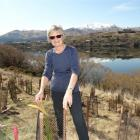 The Wakatipu Reforestation Trust's Barbara Simpson at a recent native species planting event at...
