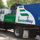 The Wellington City Council's EnviroWay recycling truck as it was discovered on Upton Terrace in...