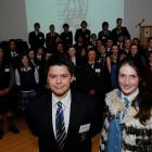 The winner of the University of Otago award for commitment to te reo Maori, Isaac MacCreadie (18)...