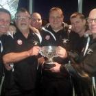 The winning New Zealand PBA bowls team of (from left) Rob Ashton (Auckland), Ken Walker (Dunedin)...