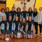 The winning St Hilda's Collegiate School senior A team of (back row, from left) Lana Morrison ...