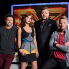 The X Factor Australia judges (from left) Guy Sebastian, Natalie Imbruglia, Kyle Sandilands and...