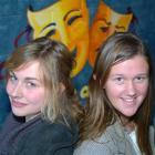 Logan Park High School pupils Theresa Ammann (16) and Nell Guy (16), major award winners at the...