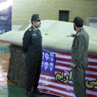 This photo released by the Iranian Revolutionary Guards, claims to show the chief of the...