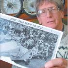 Those were the days: Trolley derby enthusiast Dave Goodman with an Otago Daily Times photograph...
