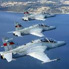 Three RAAF Hawk 127 fighter trainers near Port Stephens, north of Sydney. Photo supplied.