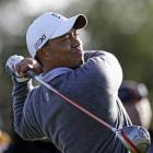 Tiger Woods tees off during the pro-am at the Frys.com Open golf tournament in San Martin,...