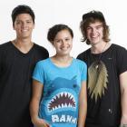 Tim Lambourne (left), Rose Matafeo and Connor Nestor will present U Live, a daily pop culture...