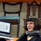 Toitu Otago Settlers Museum collections manager Kiri Griffin displays the digital archive in...