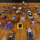 Emmy Award-winning singer/songwriter Toni Childs conducts a yoga session in  the Dunedin Town...