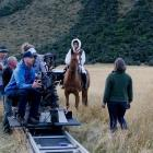 Top of the Lake director of photography Adam Arkapaw with a film crew on set with Tui, played by...