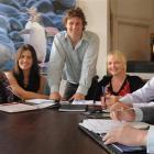 Tourism Dunedin staff (from left) Sharon O'Loughlin, Gil Abercrombie, Bree Jones, Josh Jenkins,...