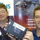 TracPlus US president Harlan Hamlin (left), holds a TracPlus antenna, and chief executive Chris...