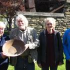 Trading golden ideas are (from left) life member of Central Stories Museum and Otago Goldfields...