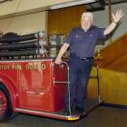 Trevor Tilyard, Fire Service assistant area commander, East Otago, steps back in time aboard a...