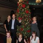 Triumphant Regent Theatre tree decorators (sitting, from left) Brogan Nuttall, Bernie Chatfield...