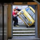 Trying to move a Mini into the Westpac Mayfair Theatre, Dunedin, yesterday for the stage show The...