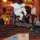 Tu Grace (14) gets airborne at the Octo Fest Skate Jam held at the Octagon yesterday. Photo by...