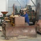 Tuapeka Vintage Club vice-president Gordon Duthie starts a 1950s Caterpillar D2 bulldozer at the...