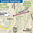 Tunnel hearings.