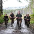 Twin Peaks Battle Tab team winner Otago A (from left): Private Mark Gilmore, Private Tom O'Connor...