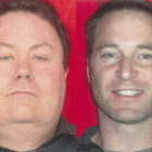 Two of the men missing from the Air NZ Airbus are Michael Gyles, left, and Noel Marsh, both of...
