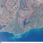 Under study: the Waitaki River and its environs. Photo by NASA.
