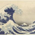 Under the Wave at Kanagawa by Katsushika Hokusai, on display at the Dunedin Public Art Gallery....