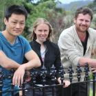 University of Otago PhD students Joe Zhang (left), Holly van der Salm and Dan Preston  have been...