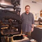 University of Otago printer in residence Brendan O'Brien is  in Dunedin for a month  to print 100...
