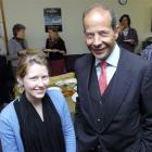 University of Otago student Georgette Philip with the Spanish ambassador, Marcos Gomez Martinez,...