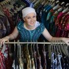 University of Otago student Susan Wardell wears East African clothing in her Dunedin boutique...