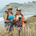 University of Otago students Teresa Konlechner (left), a botany and geography PhD candidate, and...