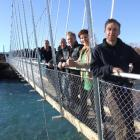 Upper Clutha Tracks Trust executive members (from right) Tim Dennis, Rachel Brown, Grant Fyfe,...