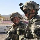 US Army Staff Sergeant Robert Bales (left) participates in an exercise  in Fort Irwin, California...